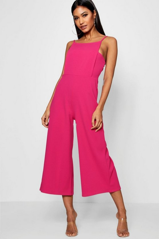 Square Neck Culotte Jumpsuit