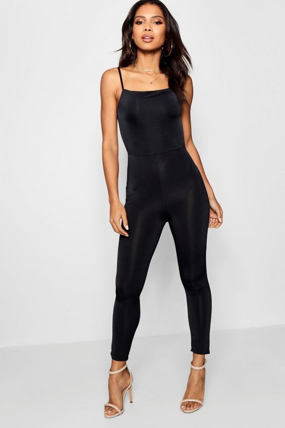 Square Cut Back Skinny Unitard