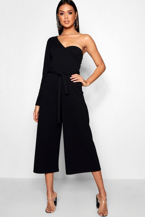 One Sleeve Bustier Style Jumpsuit