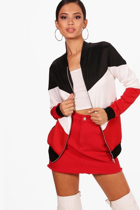 Colour Block Bomber