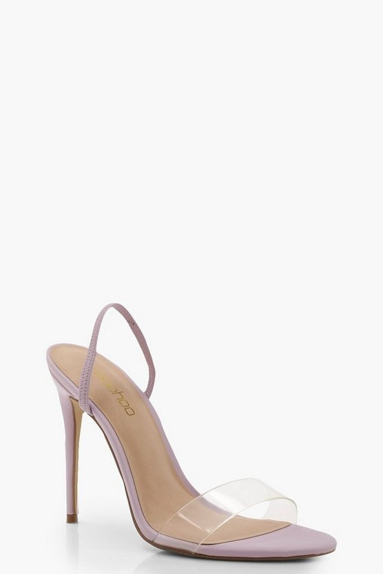 Clear Strap Sling Back Heel Sandals