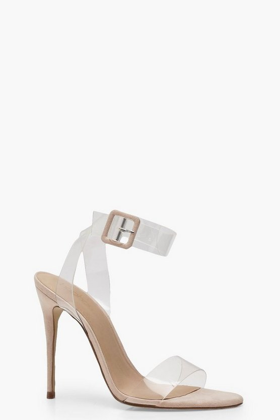 Clear Two Part Heels