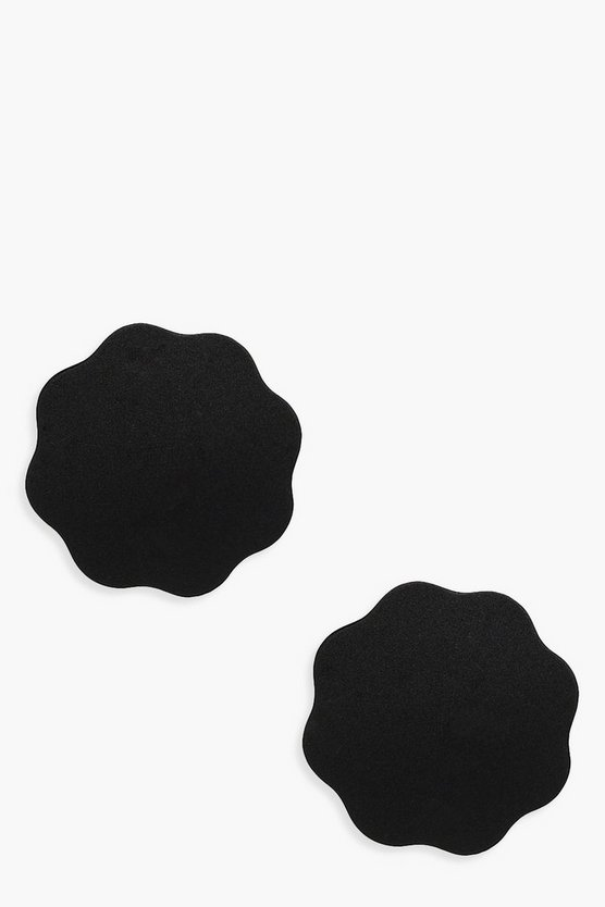 Womens Black Reusable Fabric Nipple Covers