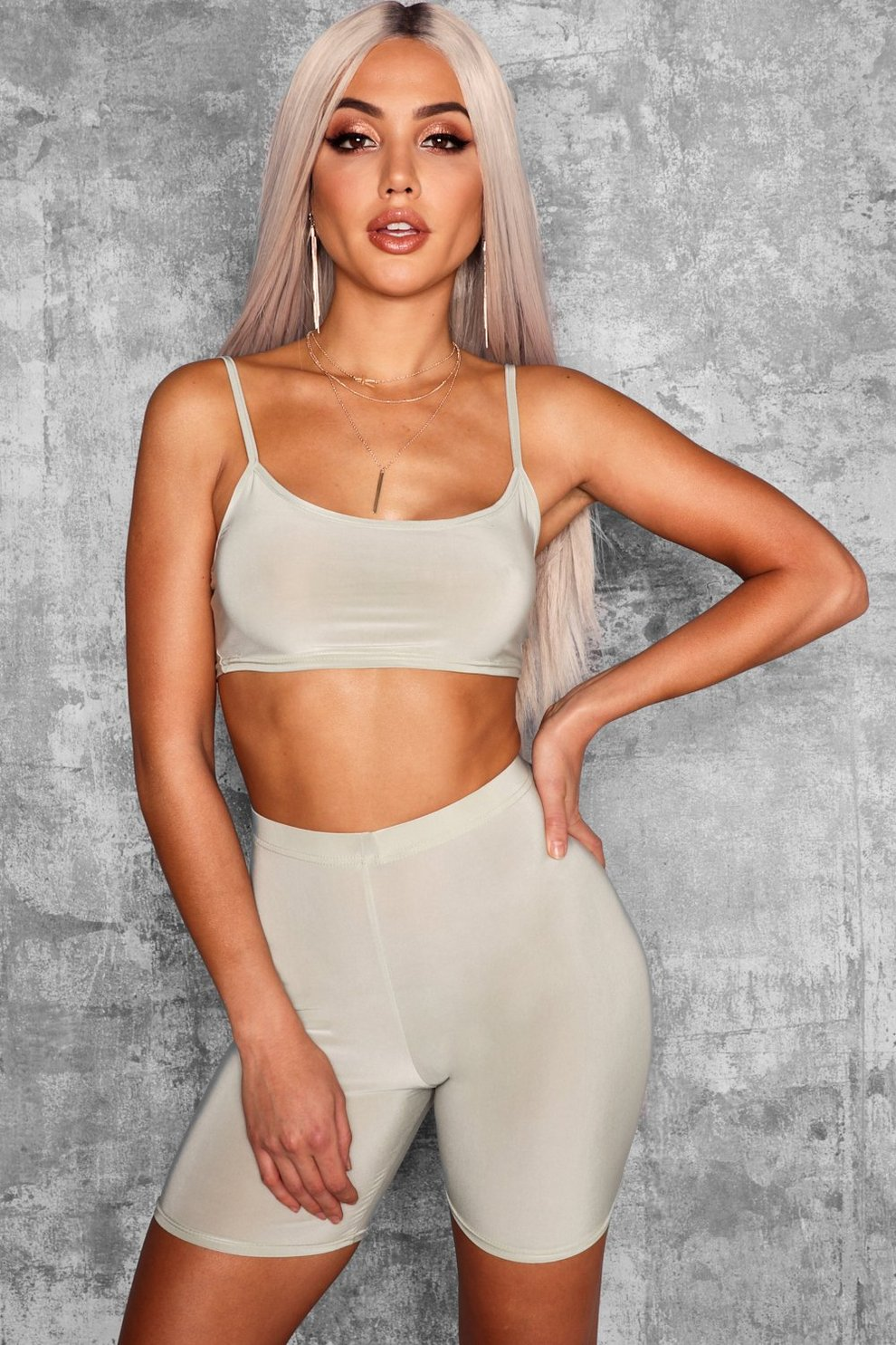 6129456615d13 Strappy Slinky Crop Top