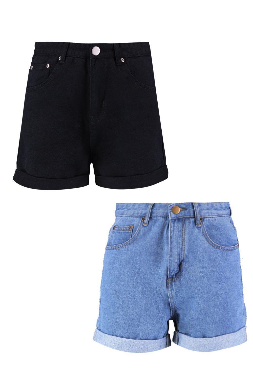 pantaloncini in vita alta Confezione con doppia denim a EqxCnwPaRn