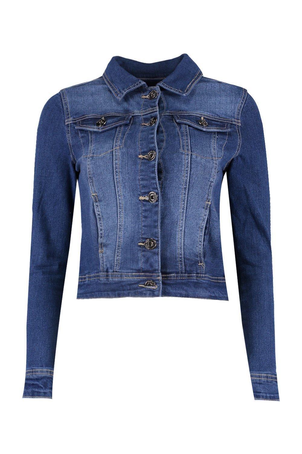 slim Chaqueta medio fit en azul denim gnxRqa