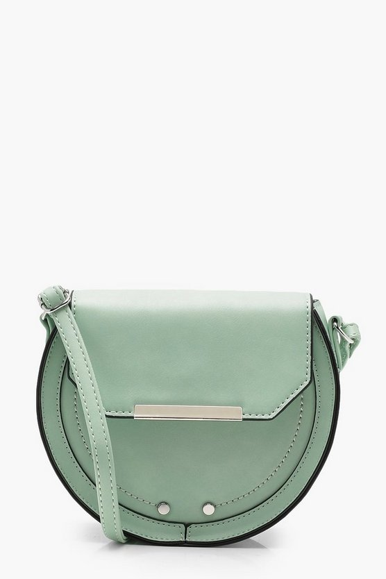 Amy Structured Saddle Cross Body