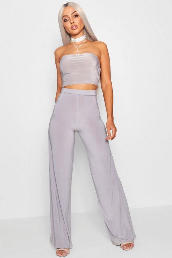 Slinky Wide Leg Trousers