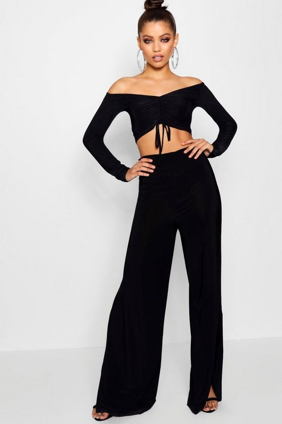 Ruched Top and Wide Leg Trouser Co-ord