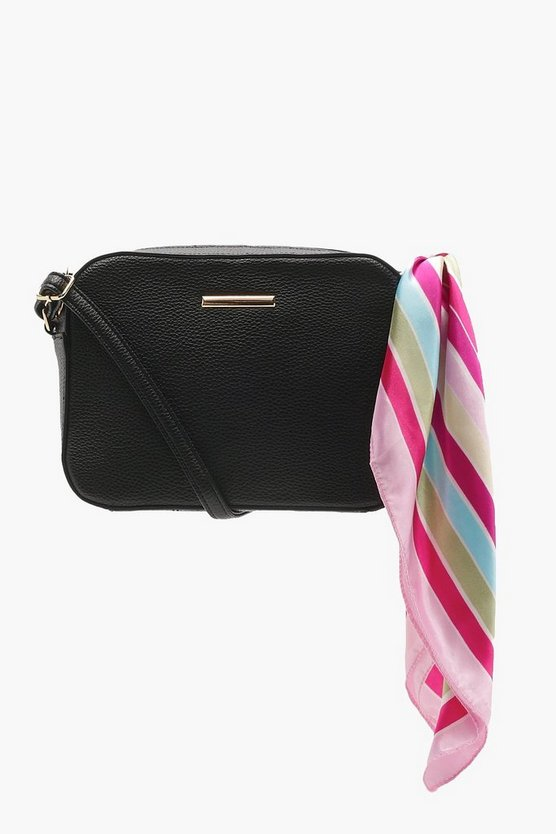 Stripe Scarf Detail Cross Body