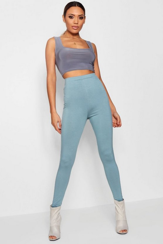 High Waist Basic Jersey Leggings