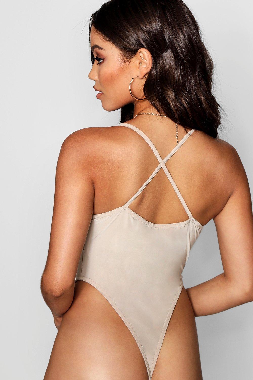 cuello y cuadrado cruzada espalda stone con elegante Body OE1Tw