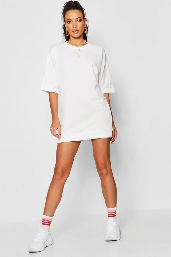 Oversized Loop Back Sweat Dress