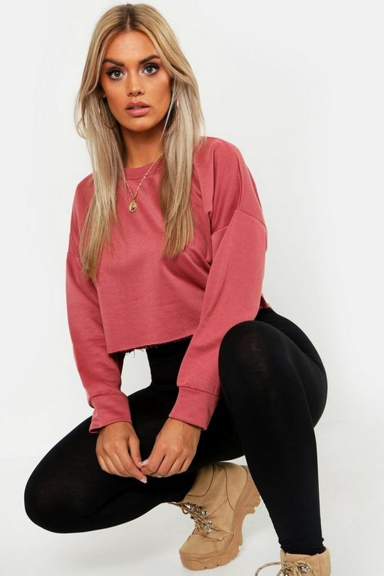 Raw Hem Oversized Boxy Sweat