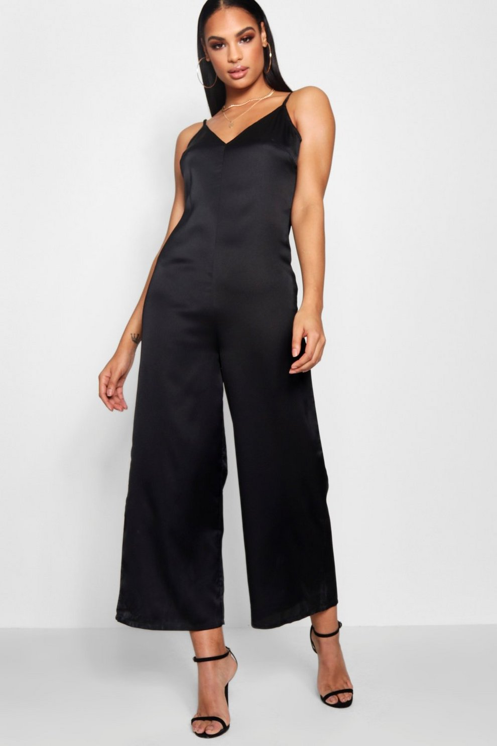 f32653cfcf Strappy Cami Luxe Satin Wide Leg Jumpsuit