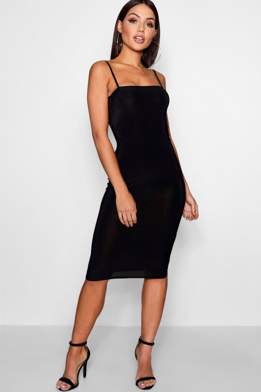 Natalia Square Neck Midi Dress