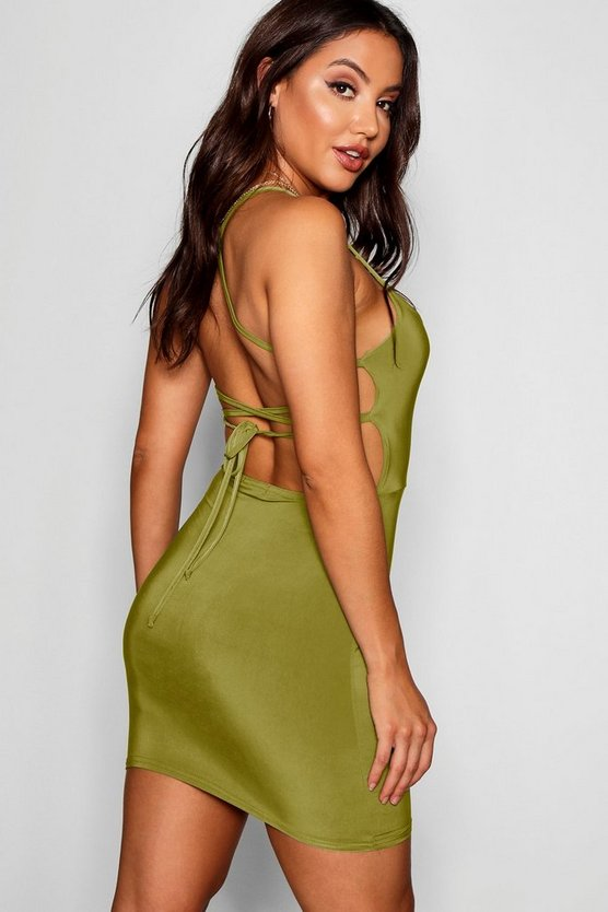 Strappy Back Detail Bodyon Dress
