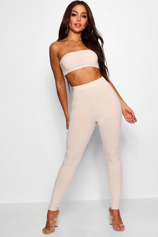 Bandeau Top & High Waisted Legging Co-Ord
