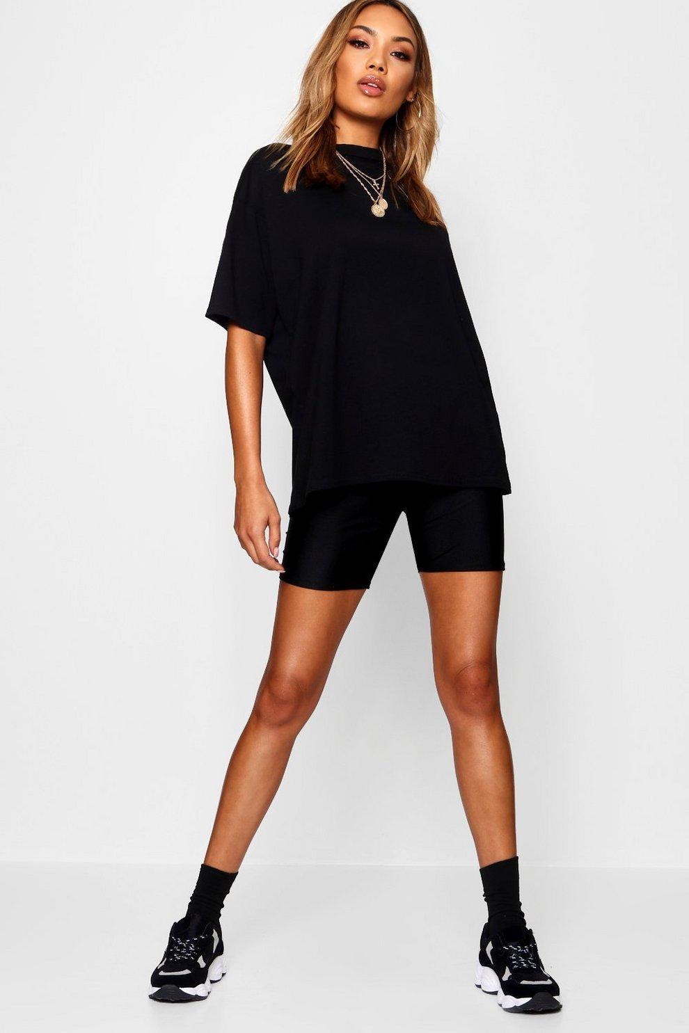 43f735f33ec Womens Black Oversized Boyfriend T-Shirt