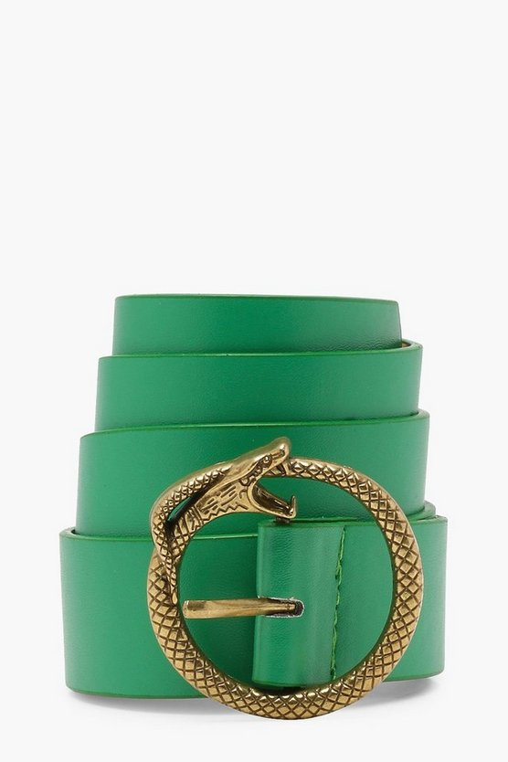 Faux Snake Buckle Boyfriend Belt