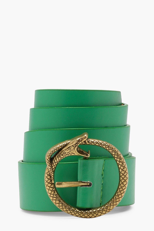 reputazione prima forma elegante prezzo più economico Cintura stile boyfriend con fibbia a forma serpente | Boohoo