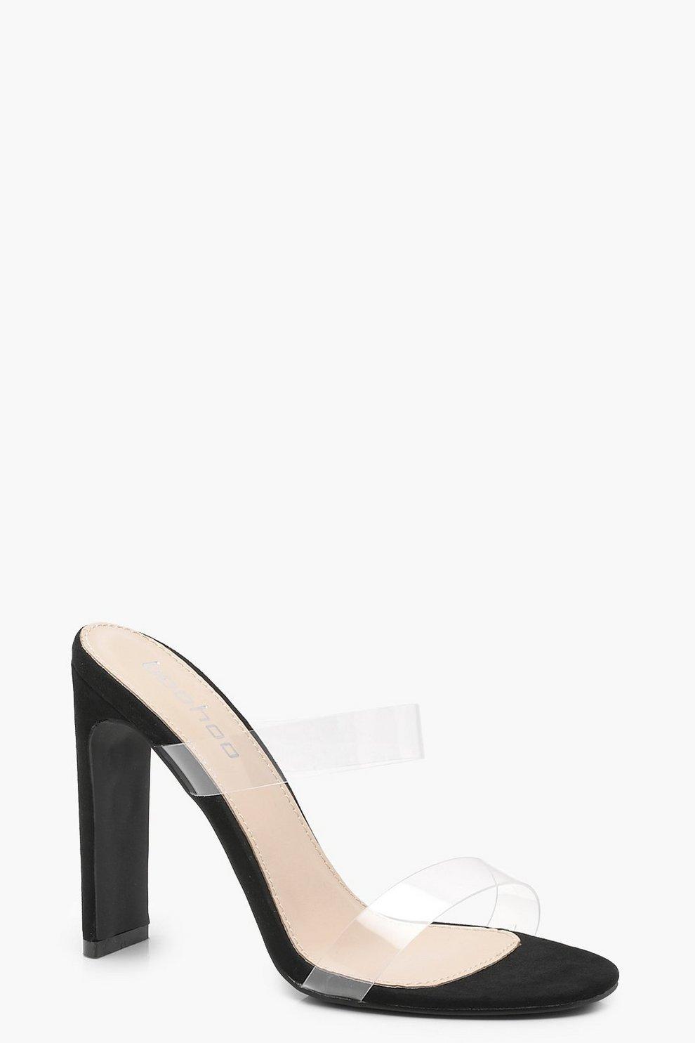 463ed8599e63 Double Clear Band Mule Heels