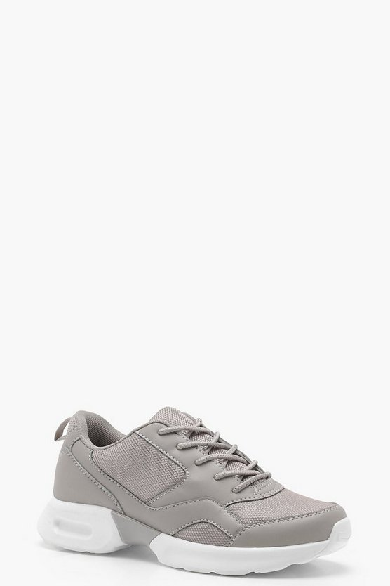 Mesh Panel Sporty Trainers