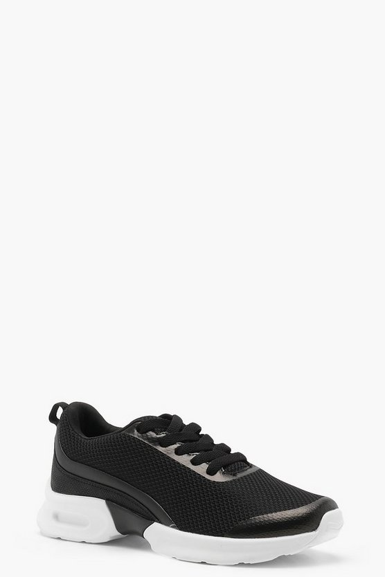 Black Chunky Sports Sole Trainers