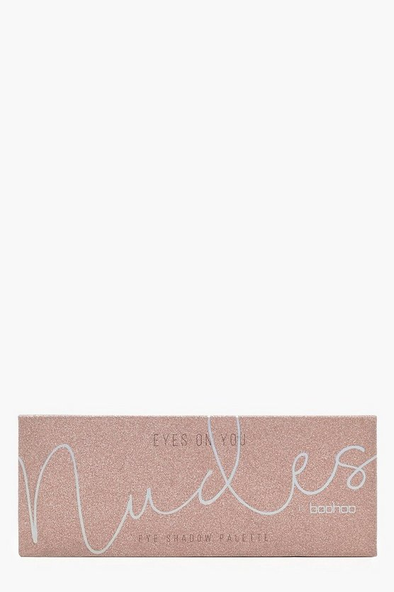 Womens Nude Boohoo Eye Shadow Palette 10 Glitter Shades
