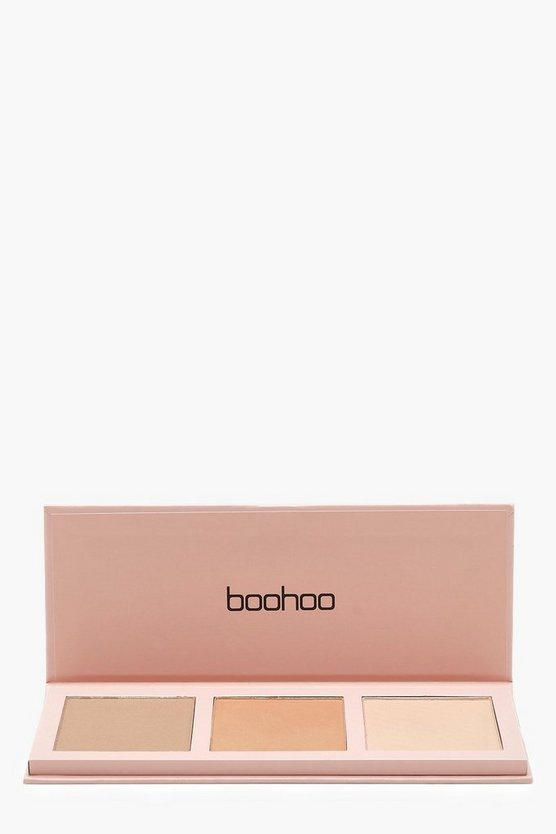 Womens Nude Boohoo Contour Powder Palette