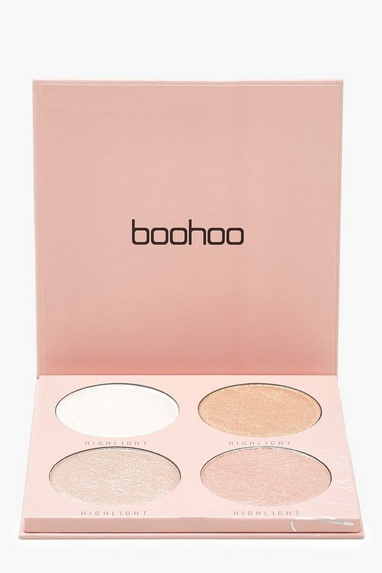 Womens Nude Boohoo Baked Highlighter 4 Shades