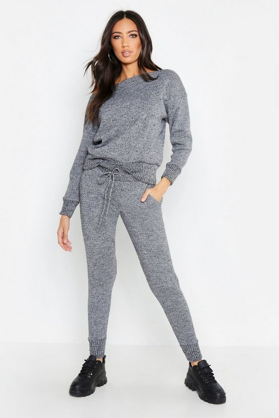 Premium Knitted Slash Neck Lounge Set