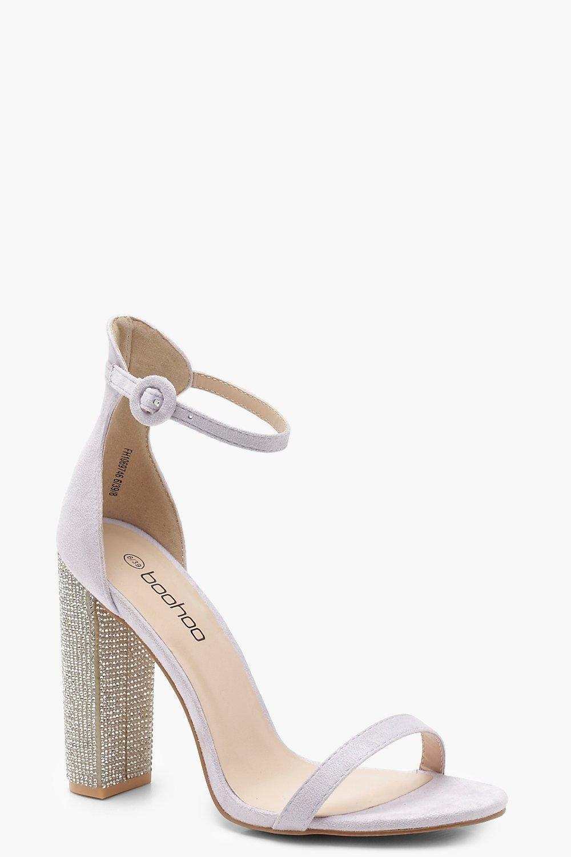 Diamante Block Heels | boohoo Australia