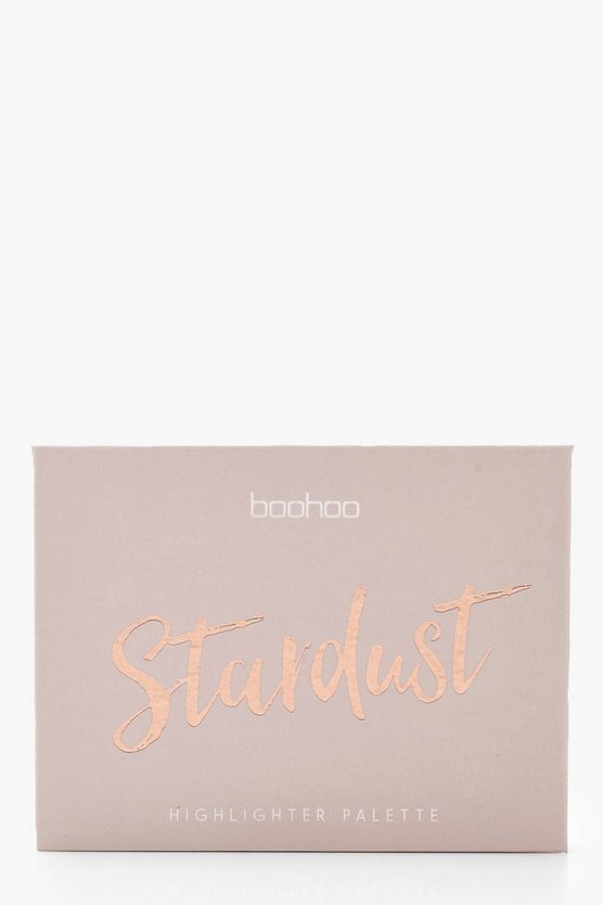 Womens Tan Boohoo Stardust Quilted Baked Highlighter