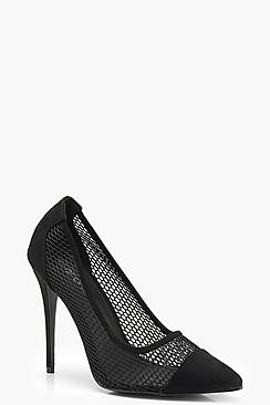 Mesh Detail Court Shoes