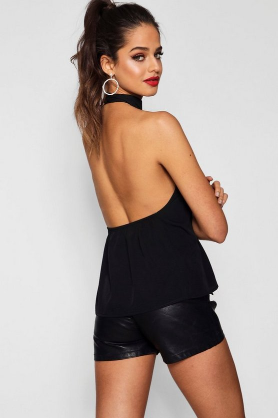 Tall Low Back High Neck Top