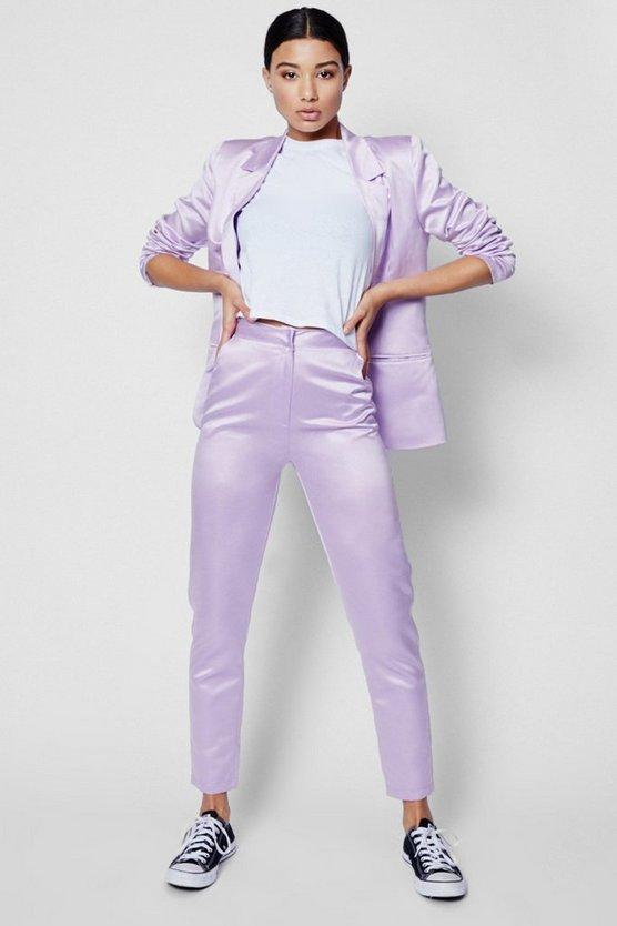 Womens Lilac Boutique Tailored Suit Trouser