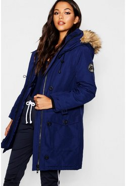Womens Blue Arctic Padded Jacket