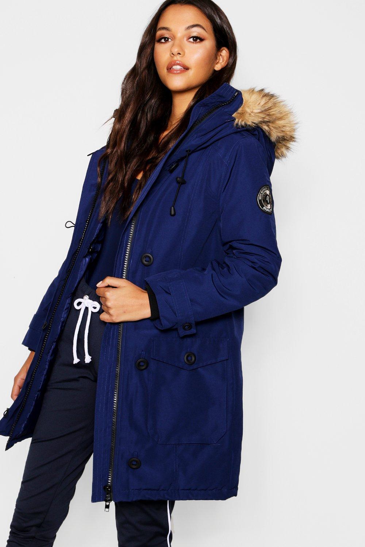 Boohoo Jacket Blueblue Arctic Womens Padded BPq1wBpx8