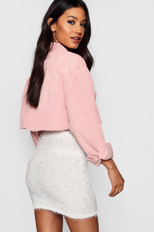 pink Jacket Crop Crop Denim Crop Jacket pink Cord Cord Cord Denim XwPxAO