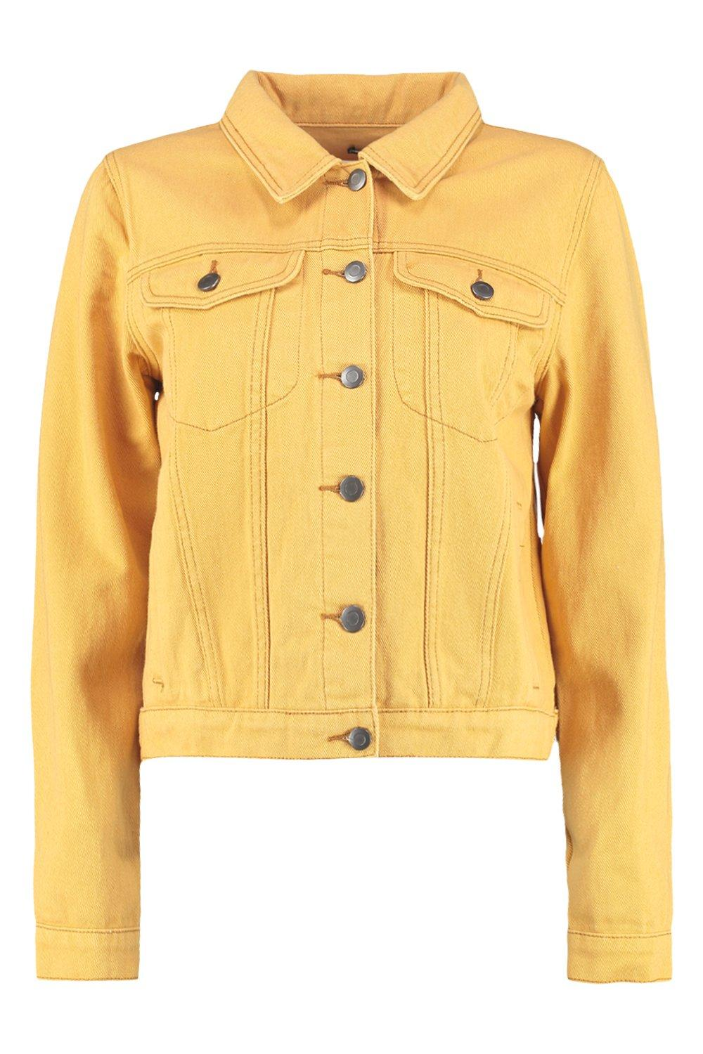 Jacket Pocket Pocket Denim Jacket yellow yellow Denim SxgX55Zqw