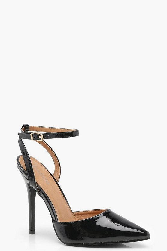 Pointed Patent Sling Back Heels