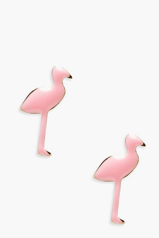 Beth Flamingo Stud Earrings