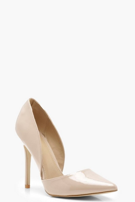 Pointed Cut Side Court Shoes