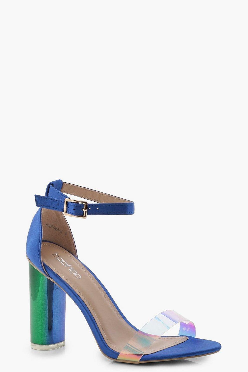 40aa3614613d Iridescent Strap Block Heels