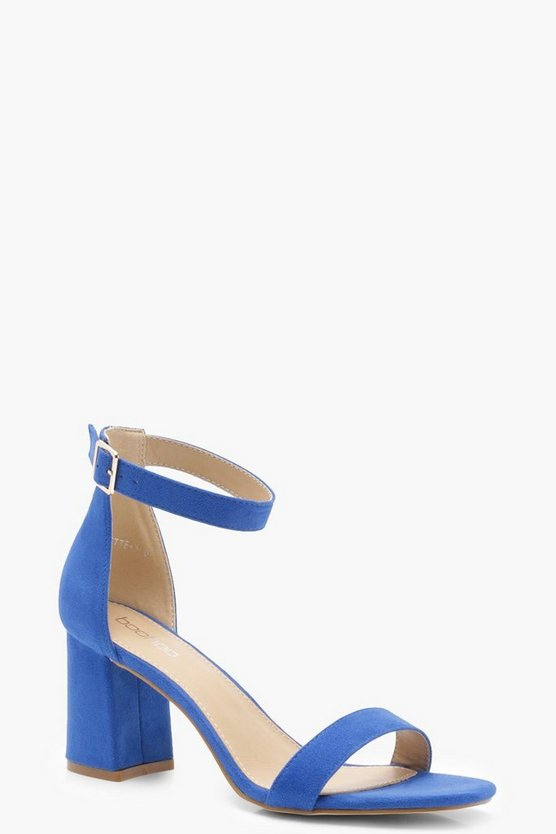 Womens Cobalt Low Block Heels