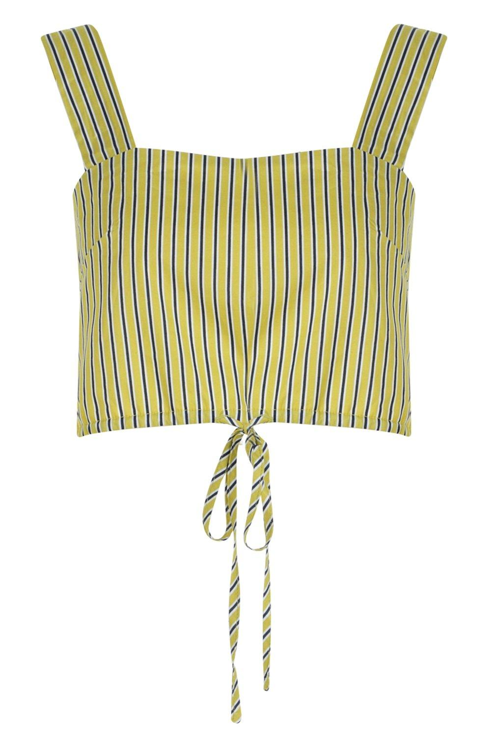 Top Square lime Neck Crop Hem Ruched T76If