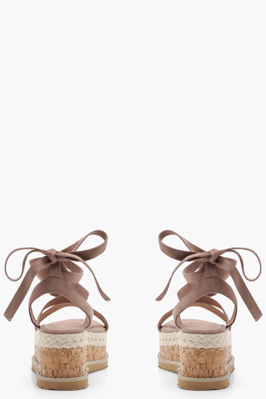 45e16007cc7 Boohoo Womens Flatform Espadrille Tie Up Sandals