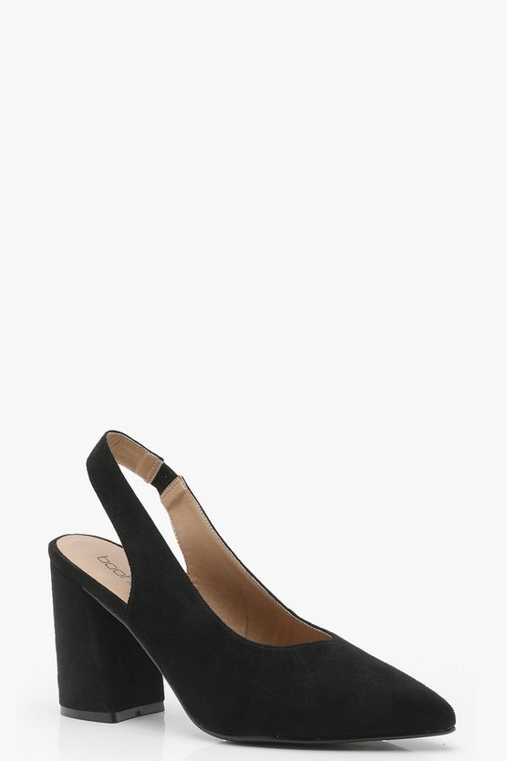 Sling Back Pointed Heels