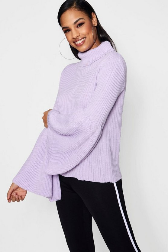 Wide Sleeve Flared Oversized Jumper